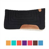 Tahoe Tack Canvas Contour Cut Western Saddle Pad, Black