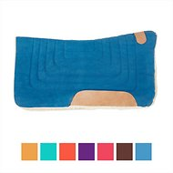 Tahoe Tack Canvas Contour Cut Western Saddle Pad, Royal Blue