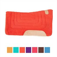 Tahoe Tack Canvas Contour Cut Western Saddle Pad, Red