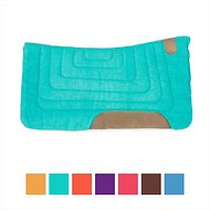Tahoe Tack Canvas Contour Cut Western Saddle Pad, Sea Green
