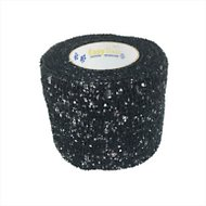 Andover Healthcare PetFlex Dog, Cat & Small Animal Glitter Bandage, Black, 2-inch