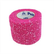 Andover Healthcare PetFlex Dog, Cat & Small Animal Glitter Bandage, Pink, 2-in