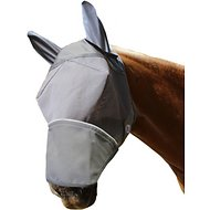 Derby Originals Reflective Fly Horse Mask with Ears & Nose Cover, Small