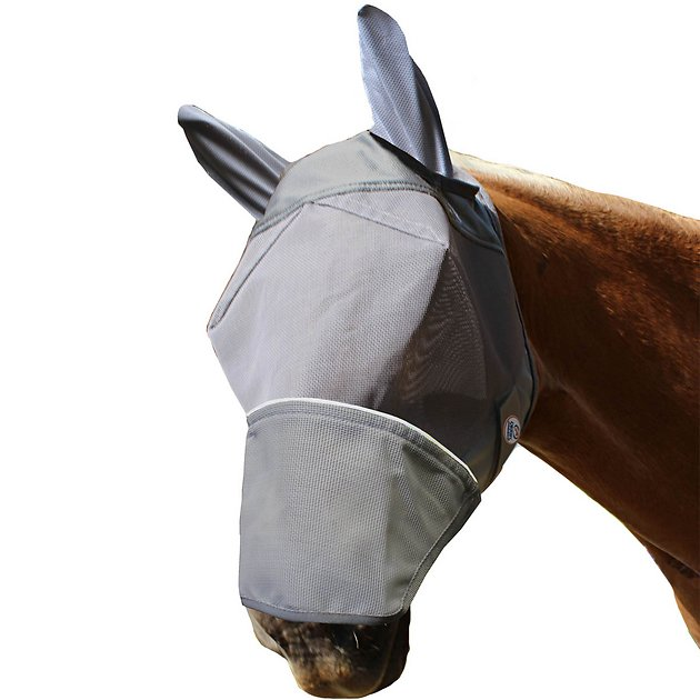 Derby Extra Comfort Lycra Grip Horse Fly Mask with Ears Wound Cleanser Anasept 12 oz. Spray Bottle  4 Pack