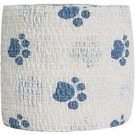 Andover Healthcare PetFlex Paw Print Dog, Cat & Small Animal Bandage, Blue Paws
