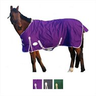 Derby Originals 600D Deluxe Waterproof Turnout Winter Horse Blanket, 57-inches, Purple/Lavender