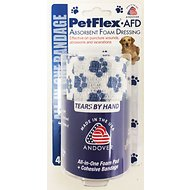 Andover Healthcare PetFlex Absorbent Foam Dressing Dog, Cat & Small Animal Bandage, 4-in