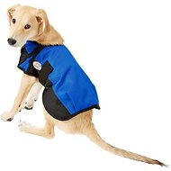 Derby Originals 600D Waterproof Dog Blanket Coat, Royal Blue/Black, 13.5-in
