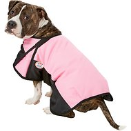 Derby Originals 600D Waterproof Dog Blanket Coat, Pink/Black, 17.5-in