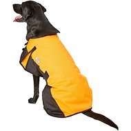 Derby Originals 600D Waterproof Dog Blanket Coat, 26.5 inches, Orange/Black