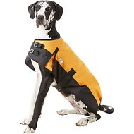 Derby Originals 600D Waterproof Dog Blanket Coat, Orange/Black, 28.5-in