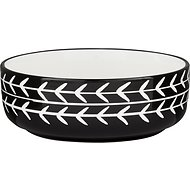 Signature Housewares Black Arrow Non-Skid Ceramic Dog & Cat Bowl