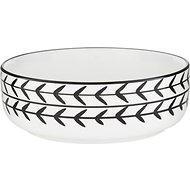 Signature Housewares White Arrow Dog & Cat Bowl, X-Small