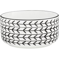 Signature Housewares White Arrow Dog & Cat Bowl, Small
