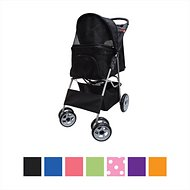 VIVO 4 Wheel Dog & Cat Stroller, Black