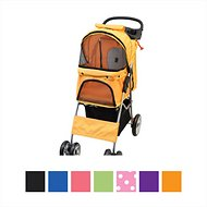VIVO 4 Wheel Dog & Cat Stroller, Orange