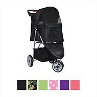 VIVO 3 Wheel Dog & Cat Stroller, Black