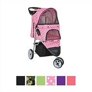 VIVO 3 Wheel Dog & Cat Stroller, Pink Polka Dot
