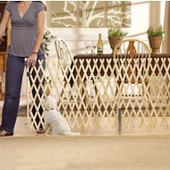 GMI Keepsafe Wooden Expanding Pet Gate, 9-ft wide