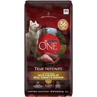 Purina ONE SmartBlend True Instinct with Real Turkey & Venison Adult Premium Dry Dog Food, 36-lb bag