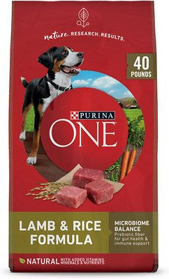 9. Purina ONE SmartBlend Lamb & Rice Adult Formula Dry Dog Food