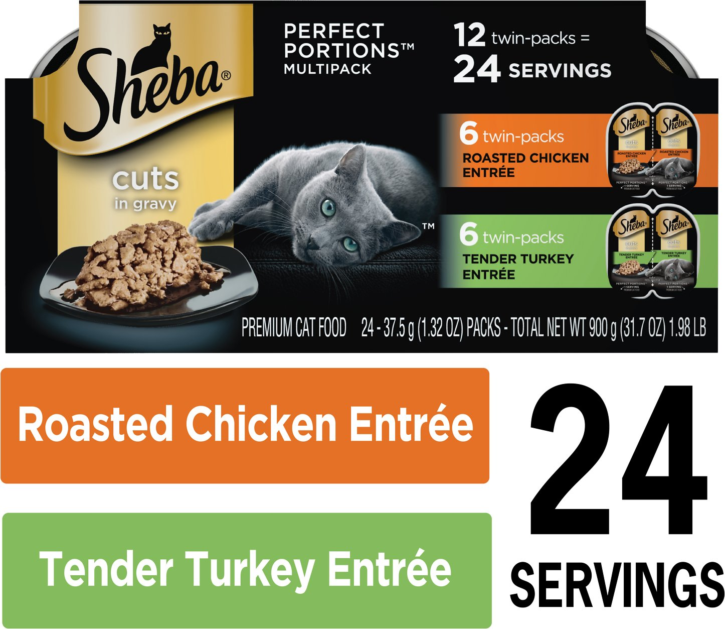 Sheba Perfect Portions Multipack Poultry Entrees Cat Food