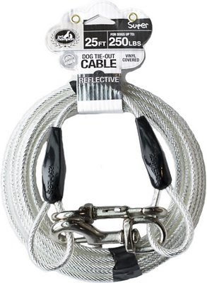 938662b0e1fd Pet Champion Tie-Out Dog Cable, Super, 25-ft - Chewy.com