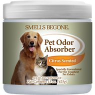 Smells Begone Citrus Pet Odor Absorbing Solid Gel, 15-oz jar