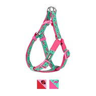 Blueberry Pet Spring Prints Dog Harness, Pink Flamingo on Light Emerald, Small