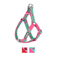 Blueberry Pet Spring Prints Dog Harness, Pink Flamingo on Light Emerald, Medium
