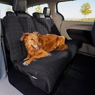 Elegant Comfort Quilted Waterproof Car Bench Seat Cover, Black