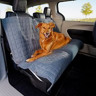 Elegant Comfort Quilted Waterproof Car Bench Seat Cover, Gray