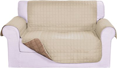 Elegant Comfort Reversible Quilted Sofa Cover, Cream/Taupe - Chewy.com