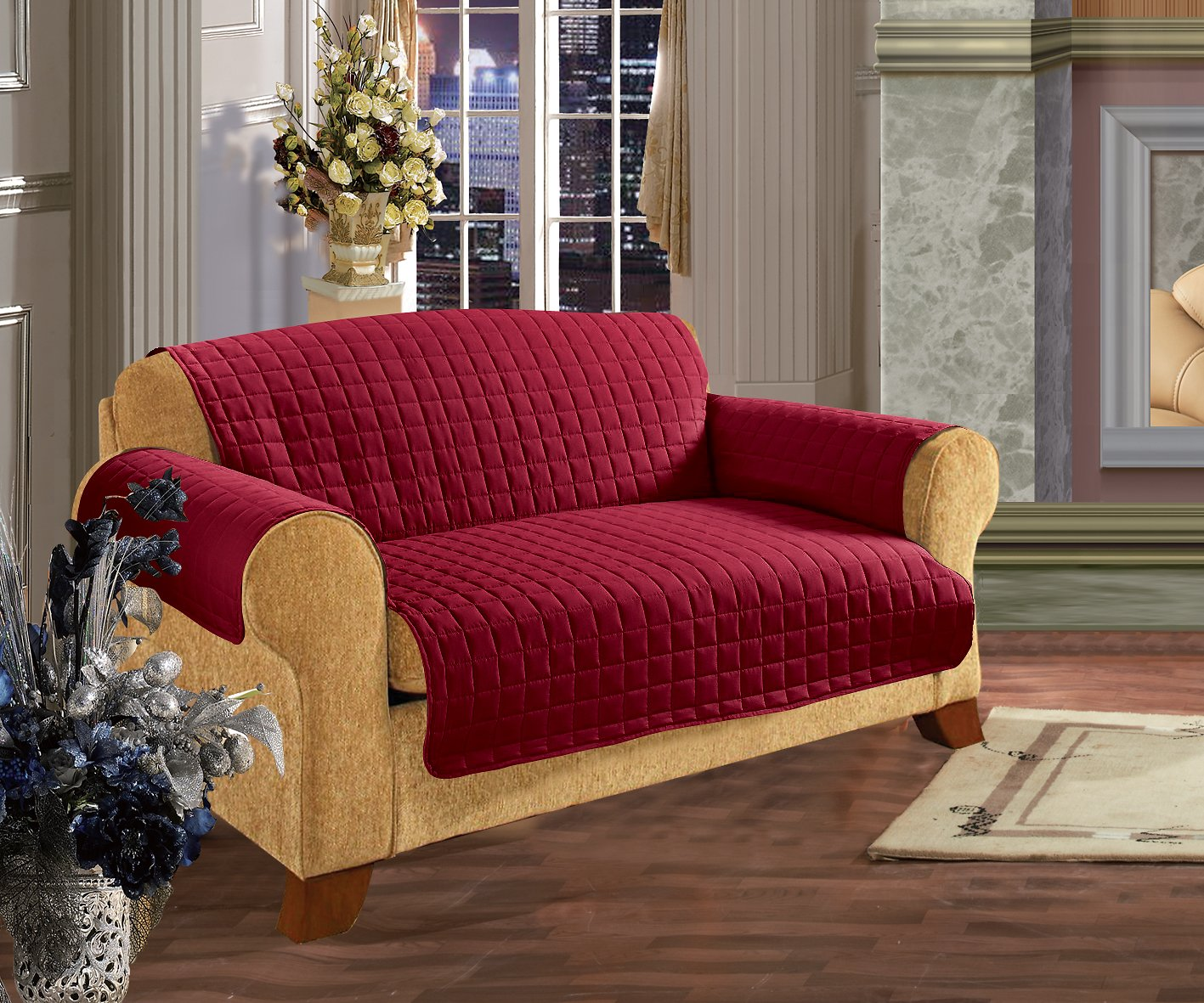 Burgundy Pet Couch Covers