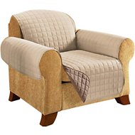 Elegant Comfort Reversible Quilted Chair Cover, Cream/Taupe