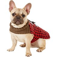 PetRageous Designs Jackson Buffalo Check Dog Toggle Jacket, Small