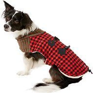 PetRageous Designs Jackson Buffalo Check Dog Toggle Jacket, Medium