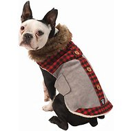 PetRageous Designs Jackson Faux Fur Trim Dog Lodge Coat, Medium