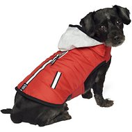 PetRageous Designs Stowe Dog & Cat Puffer Coat, Small, Red