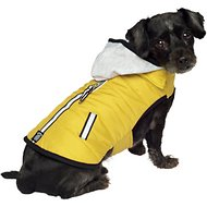 PetRageous Designs Stowe Dog & Cat Puffer Coat, Small, Yellow