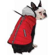 PetRageous Designs Stowe Dog & Cat Puffer Coat, Medium, Red