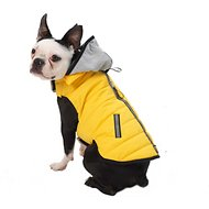 PetRageous Designs Stowe Dog & Cat Puffer Coat, Yellow, Medium