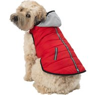 PetRageous Designs Stowe Dog & Cat Puffer Coat, Large, Red