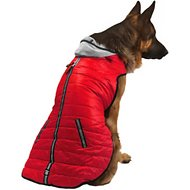 PetRageous Designs Stowe Dog & Cat Puffer Coat, Red, XX-Large