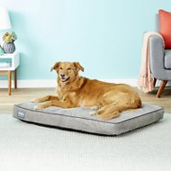 Better World Pets Waterproof Memory Foam Orthopedic Dog Bed, Large, Midnight Grey