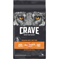 Crave with Protein from Chicken Adult Grain-Free Dry Dog Food, 22-lb bag