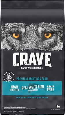 Crave High Protein White Fish & Salmon Adult Grain-Free Dry Dog Food