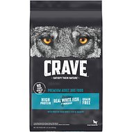 Crave with Protein from Salmon & Ocean Fish Adult Grain-Free Dry Dog Food, 22-lb bag