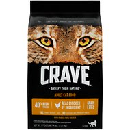 Crave with Protein from Chicken Adult Grain-Free Dry Cat Food, 4-lb bag