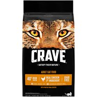 Crave with Protein from Chicken Adult Grain-Free Dry Cat Food, 10-lb bag